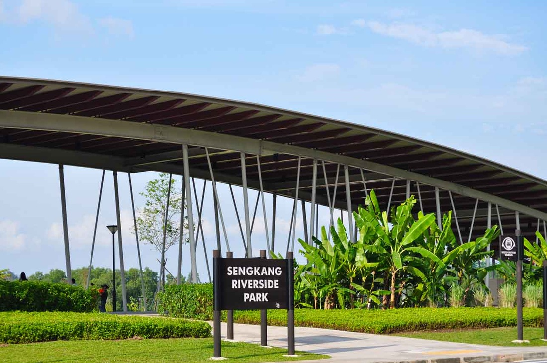 Sengkang Riverside Park near the Treasure Crest Executive Condo
