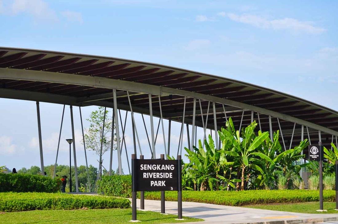 Sengkang Riverside Park near the Treasure Crest Executive Condo