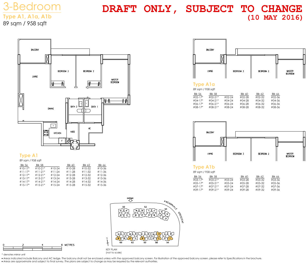 Treasure Crest Floor Plan 3 Bedroom