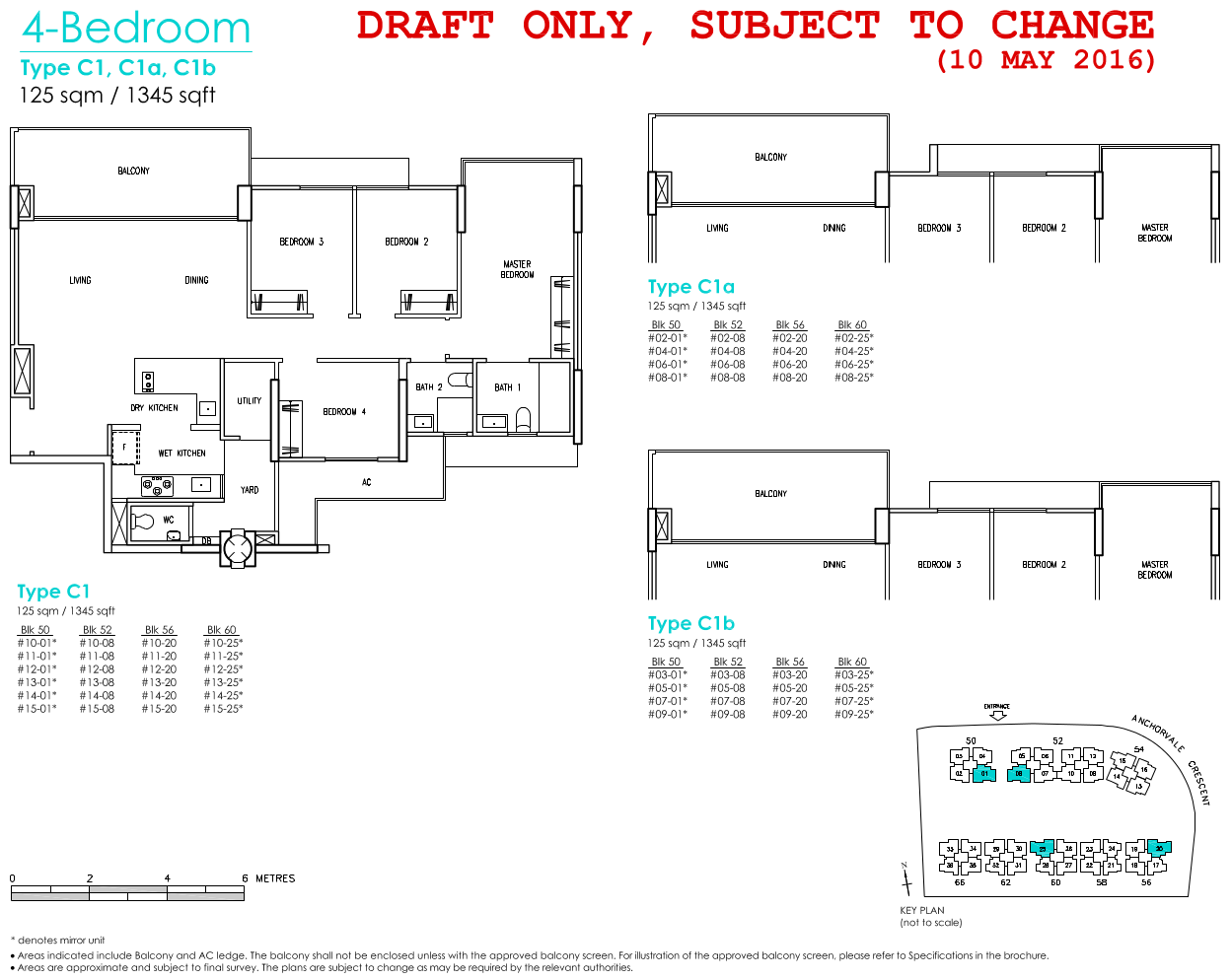 Treasure Crest Floor Plan 4 Bedroom